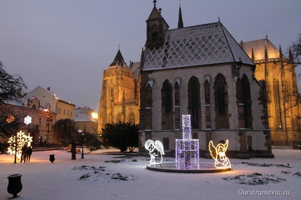 Кошице, Словакия зимой