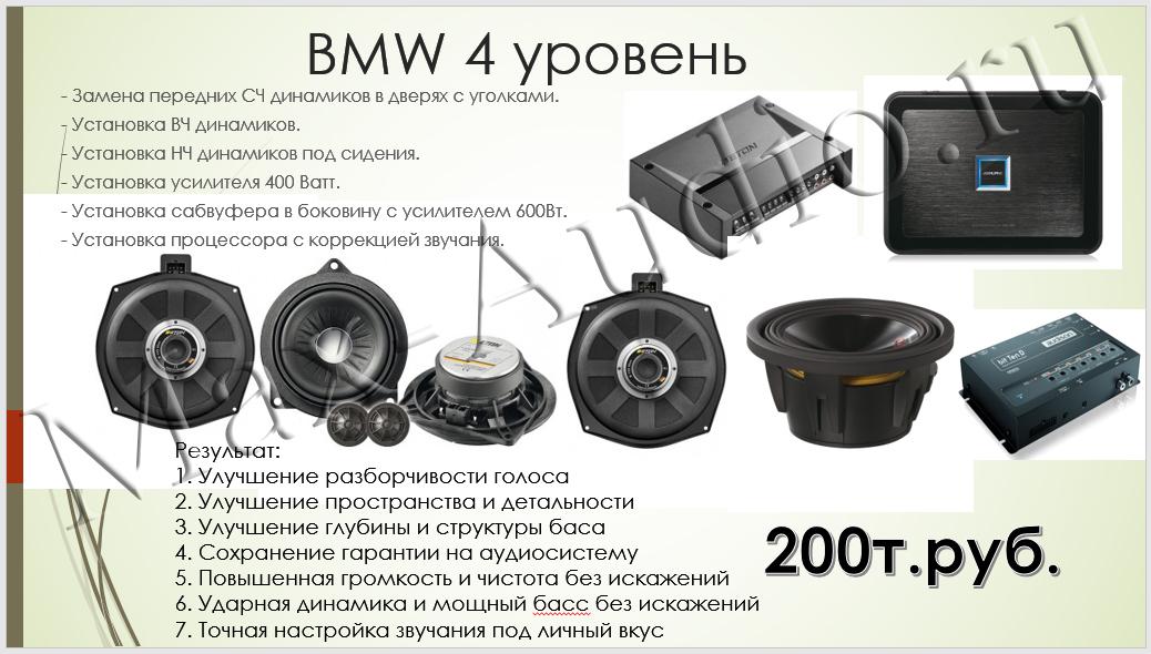 Готовые решения для BMW 4 уровень