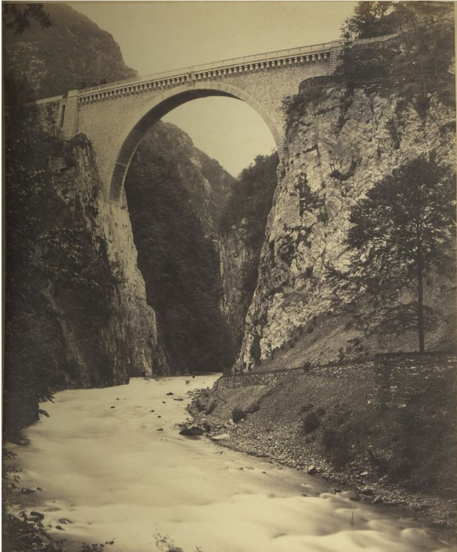 1868. Люс-Сен-Совёр. Мост Наполеона