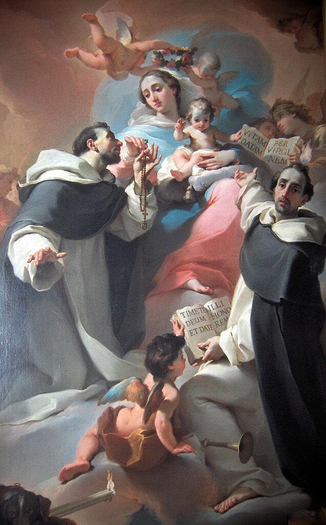 Madonna with Child, Saint Dominic and Vincenzo Ferreri (ca. 1773). убальдо.jpg