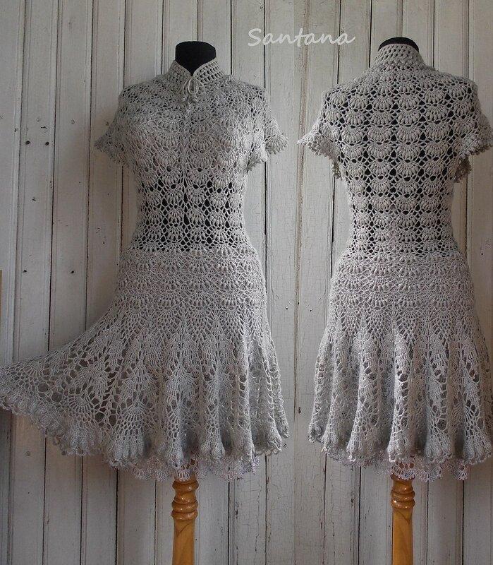 Серое платье. Коллаж 1