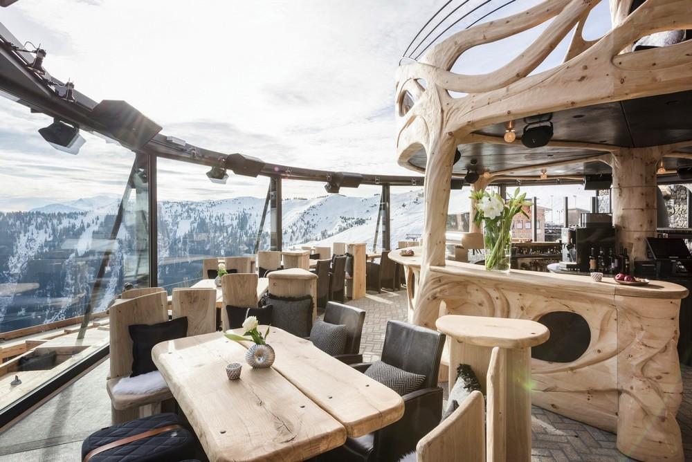 Ресторан в горах Австрии