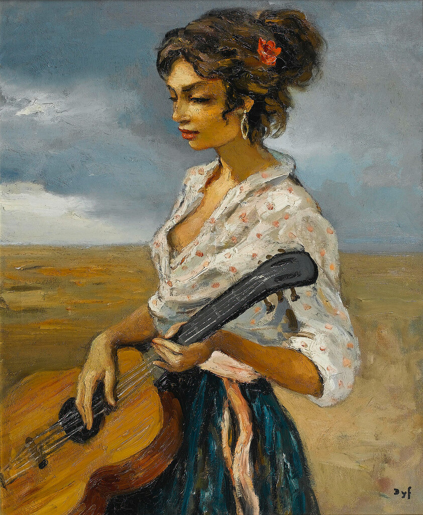 Rosette, Gypsy with Guitar, 1956.jpeg