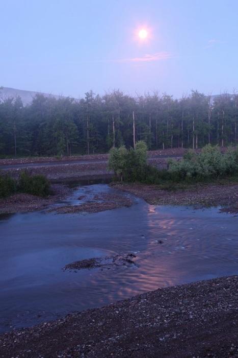 речка Горемыко ночью