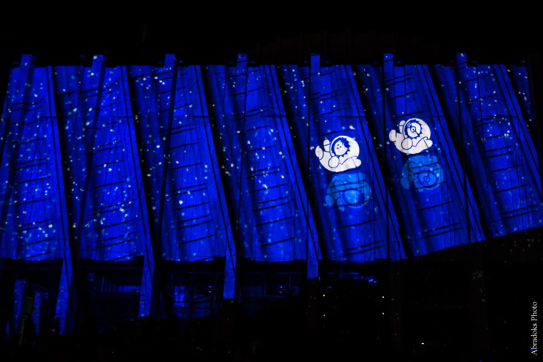 Ануки ищут весну в Киеве на Украинском доме. Европейская площадь. Неделя Франции. Световое 3D шоу