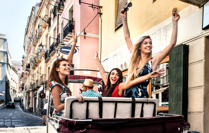 Three Fashionable Girls by Stefano Oppo
