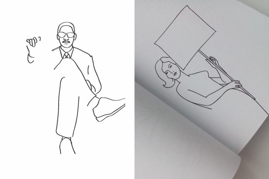 А ну ка дорисуй! Что получилось у американского иллюстратора с женщиной