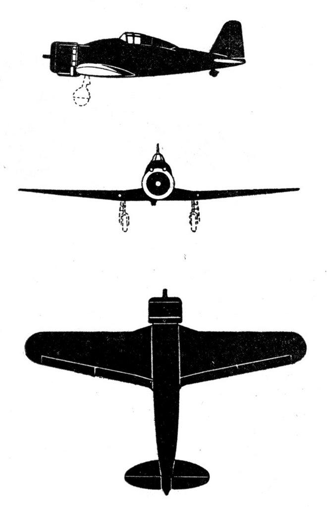 Силуэты итальянских самолетов (1939) 007