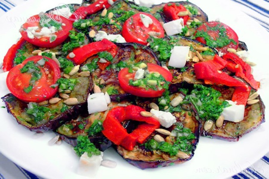 Печеный салат