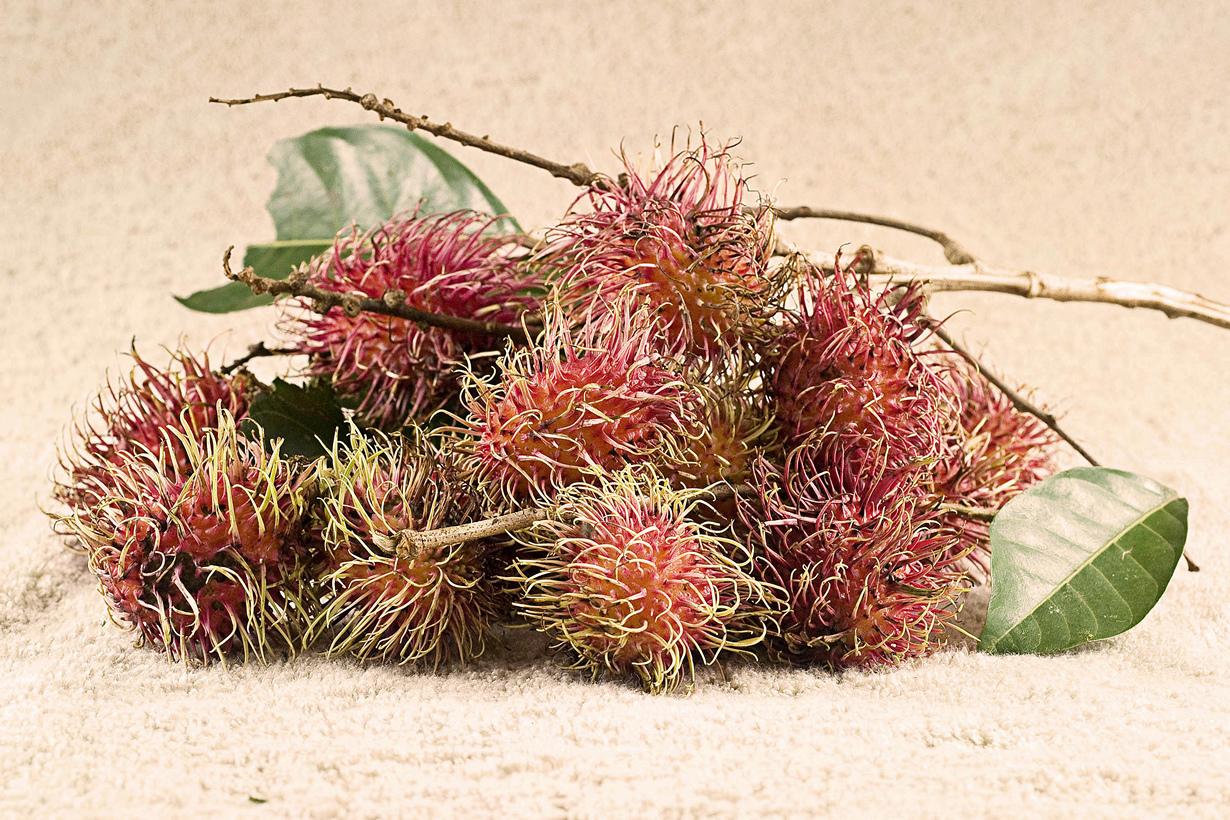 Рамбутан. Плод имеет кисло-сладкий вкус, напоминающий зелёный виноград. (Hafiz Issadeen)