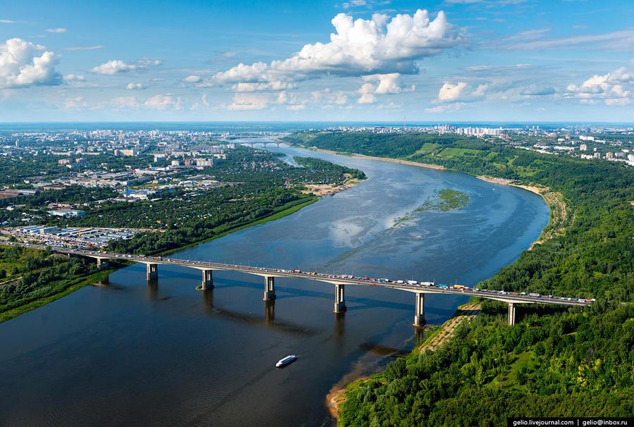 38. Мызинский мост, входящий в состав федеральной трассы М7 Москва — Уфа.