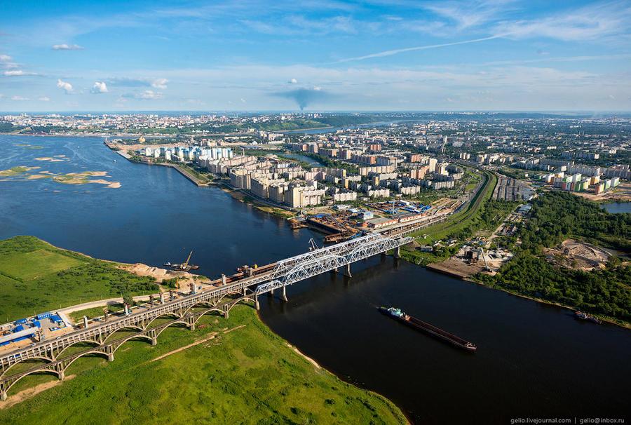 50. Борские мосты через реку Волгу и строительство нового волжского моста. Спаренные железнодорожный