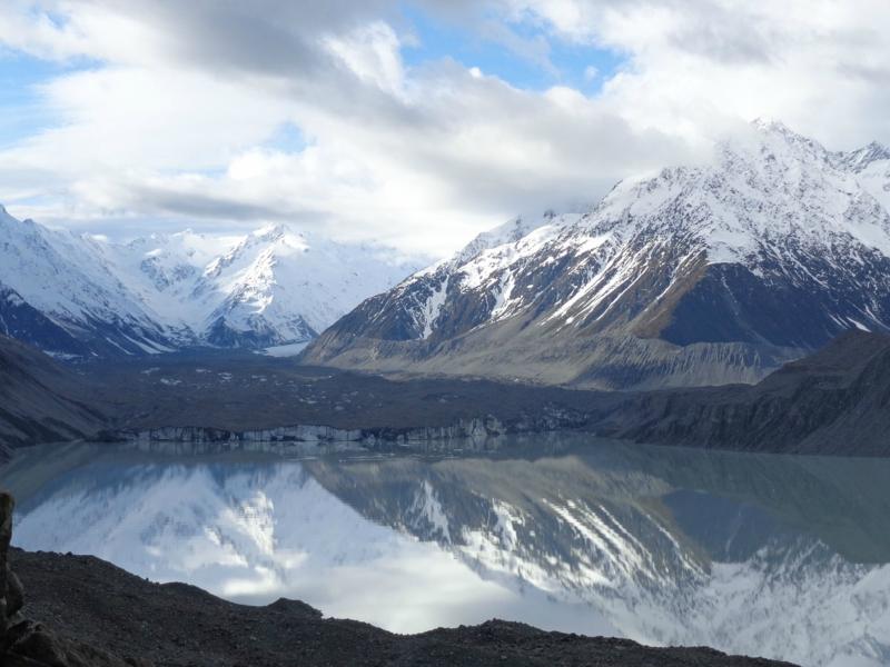 Самые красивые крупнейшие ледники мира: Тасман, Новая Зеландия