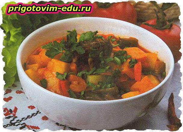 Суп-гуляш с болгарским перцем