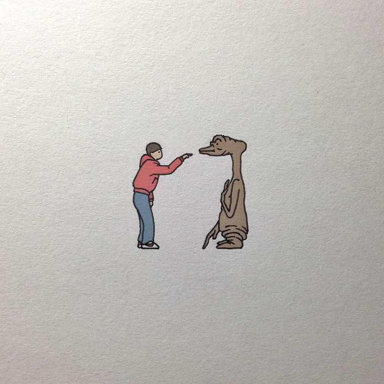 Pop Culture - A series of adorable, funny and quirky miniature illustrations