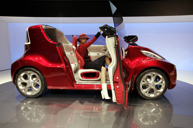 Nissan's concept car R.D/B.X is displayed during 40th Tokyo Motor Show in Chiba Wednesday, Octo