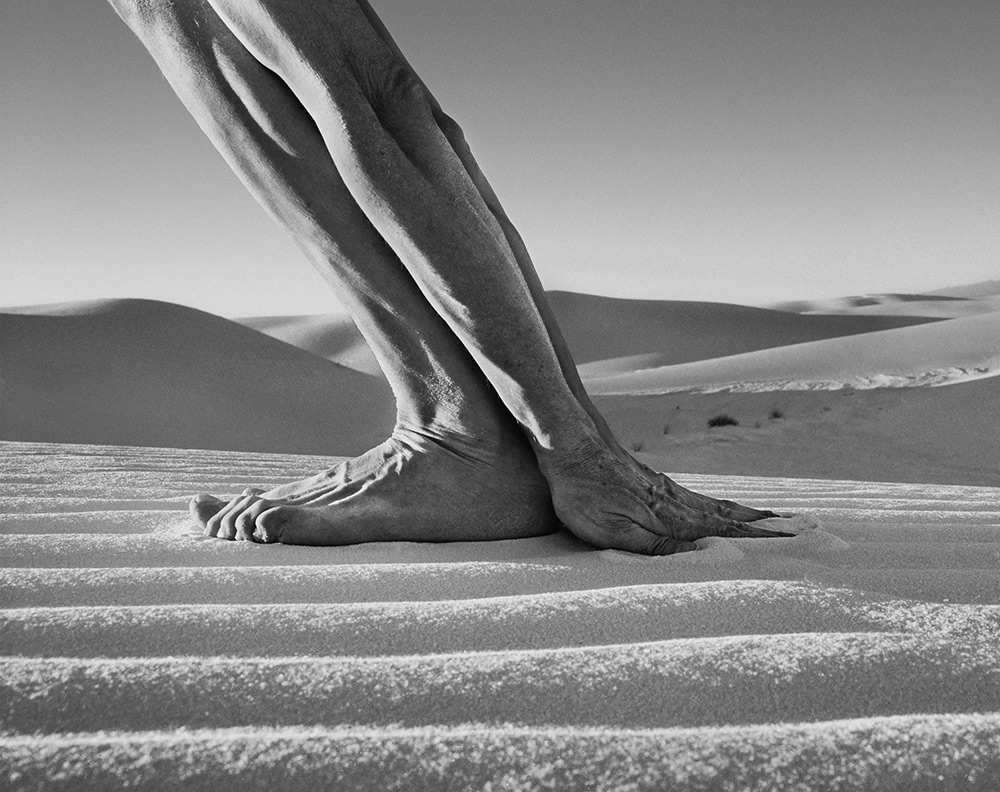 Hands and Feet, White Sands, NM, 2000. Courtesy Catherine Edelman Gallery.