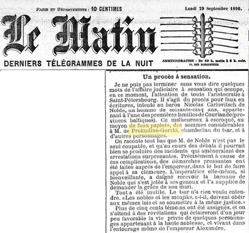 1890 29 сентября Le Matin.jpg