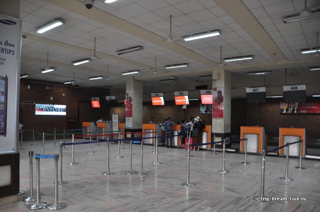 Стойки регистрации AirAsia а аэропорту Катманду