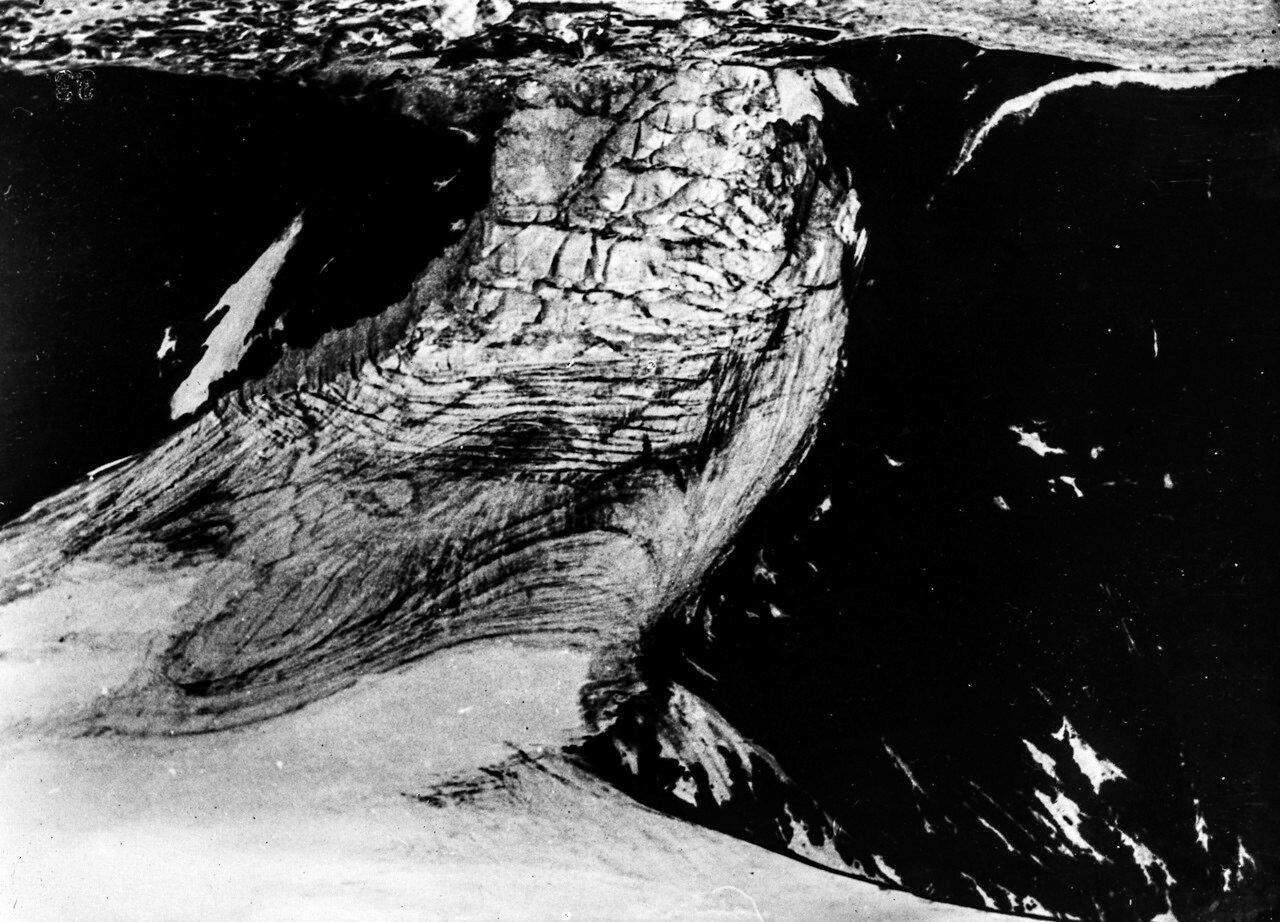 1931. Новая Земля. Вид с воздуха на ледник на Северной Земле