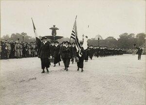 1919. Парад 14 июля. Американская колонна
