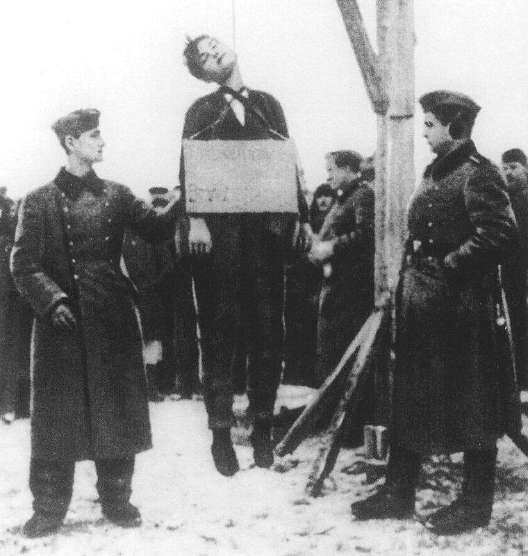 Казнь Зои Космодемьянской, «Правда», 27 января 1942 года