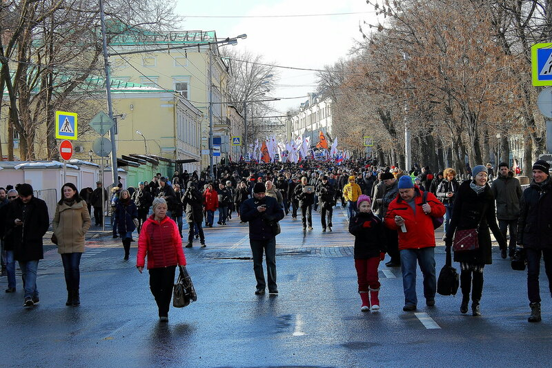 The march in memory of Boris Nemtsov