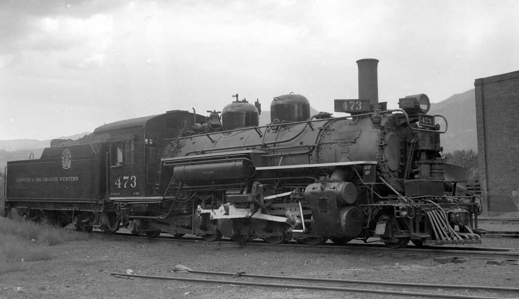 Denver & Rio Grande Western locomotive (Narrow Gauge), engine number 473, engine type 2-8-2. Salida, Colo., 1931.jpg