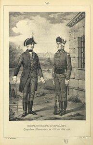 544. ОБЕР-ОФИЦЕР и СЕРЖАНТ Егерского Батальона, с 1777 по 1786 год.