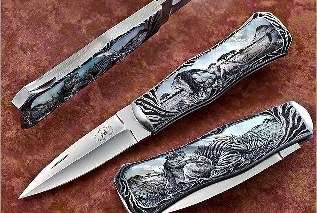 рукоять ручной работы нож