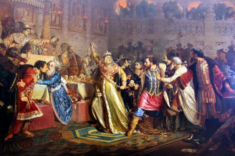 Великая княгиня Софья Витовтовна на свадьбе великого князя Василия Темного