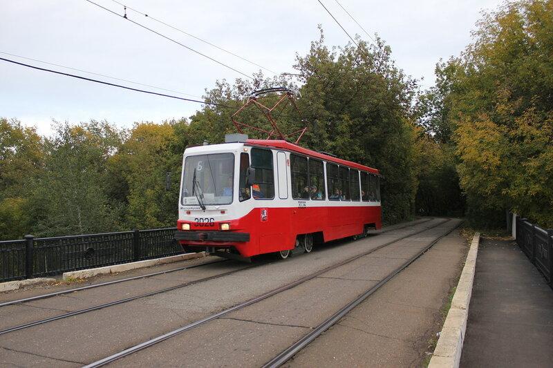 Трамвай 326 на старом Волоколамском мосту