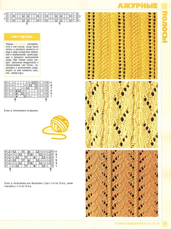 Сабрина схемы для вязания на спицах