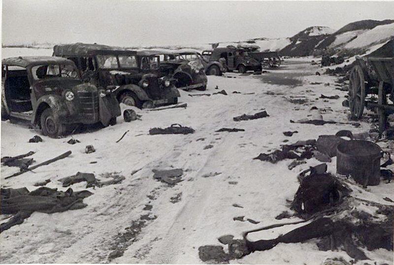 Фото С.Н. Струнникова: Уничтоженная немецкая техника.