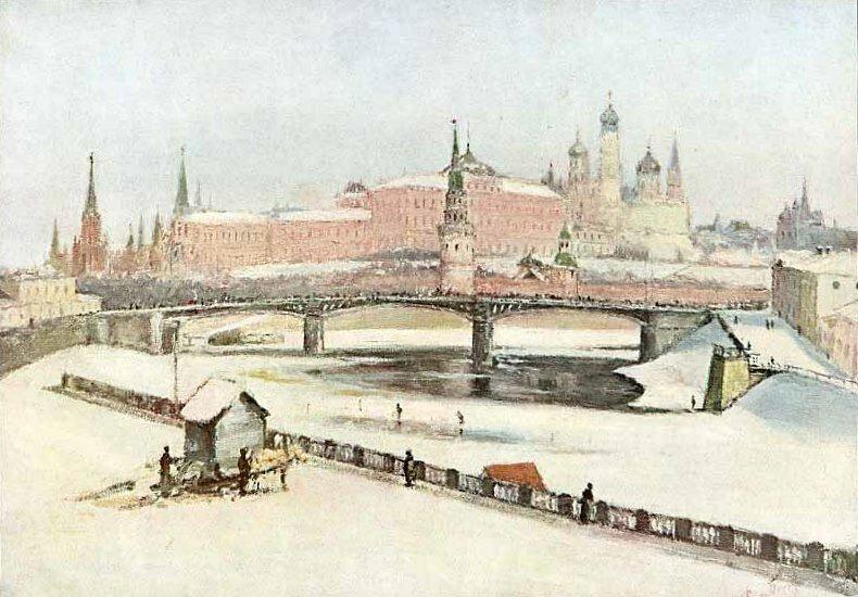 Зимний вид Кремля. Н. Фон-Бооль.