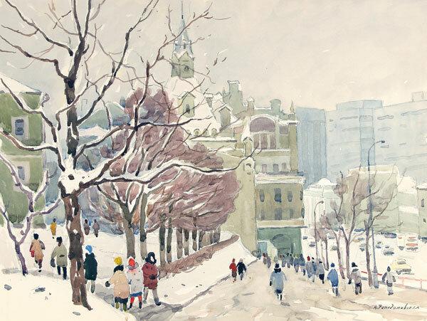 А. А. Ромодановская. Проспект Маркса, 1972.