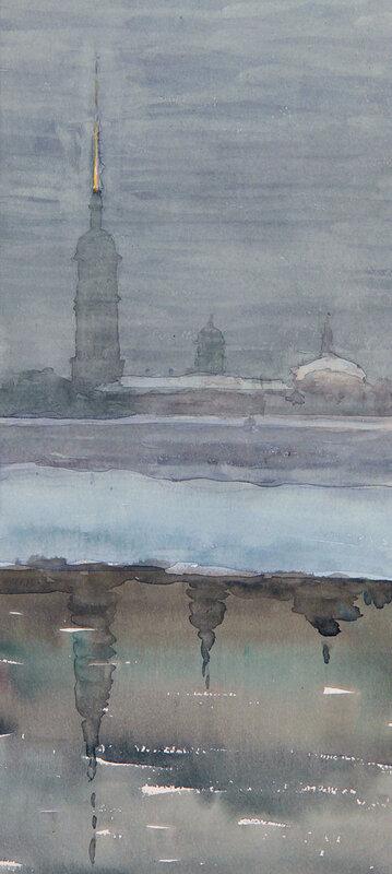 А. А. Ромодановская. Петропавловская крепость. 1956.