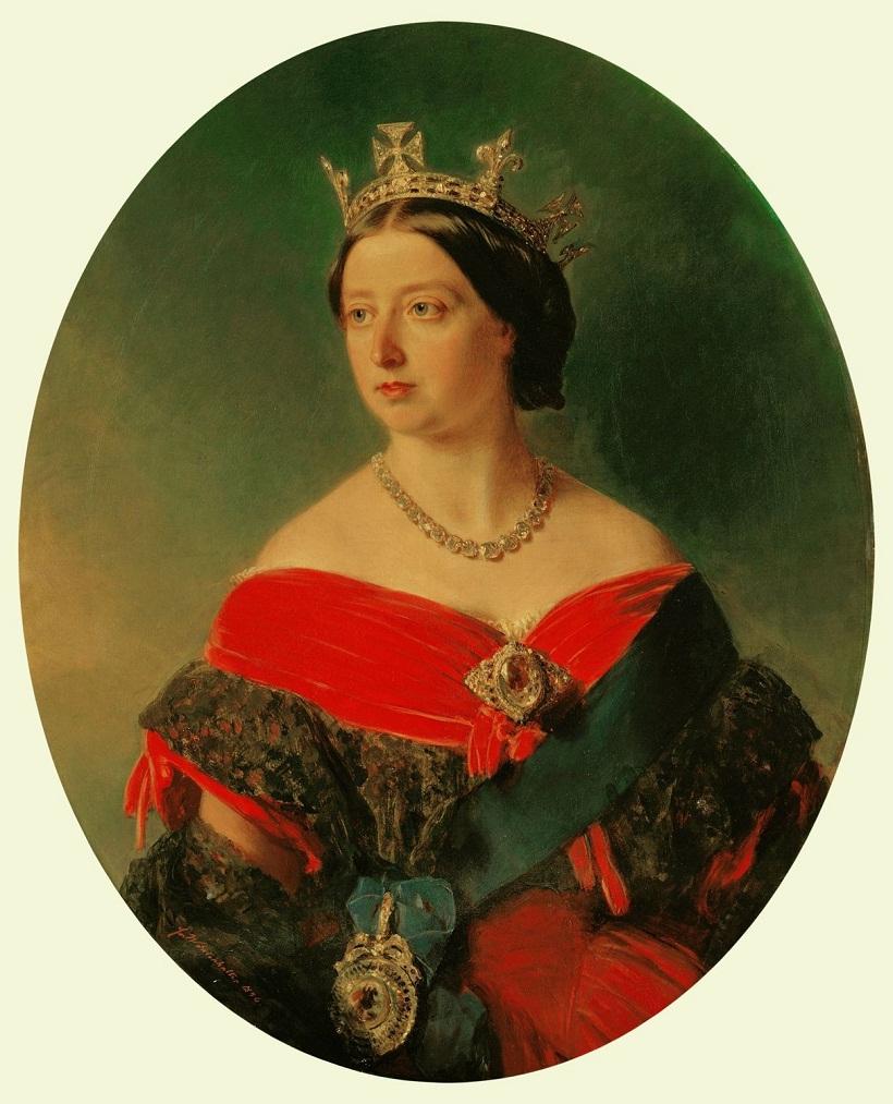 Королева Виктория (1819-1901)  Подпись и дата 1 856