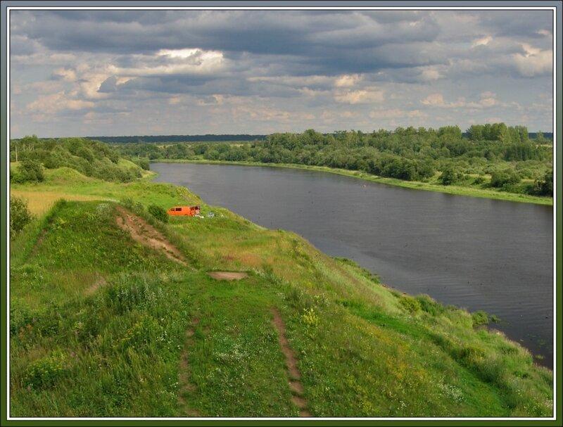Вид на Волхов с кургана Вещего Олега, Старая Ладога