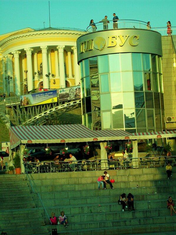 Площадка обозрения на Майдане Незалежности
