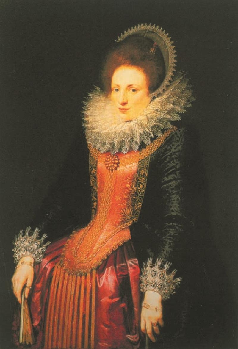 Фламандский мастер начала 17 века «Портрет дамы с веером»..jpg