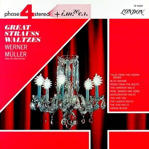Werner Müller And His Orchestra ‎– Great Strauss Waltzes (1964) [London Records, SP 44039]