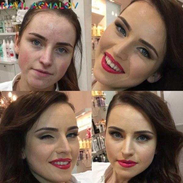 До и после, или волшебство визажиста (22 фото)