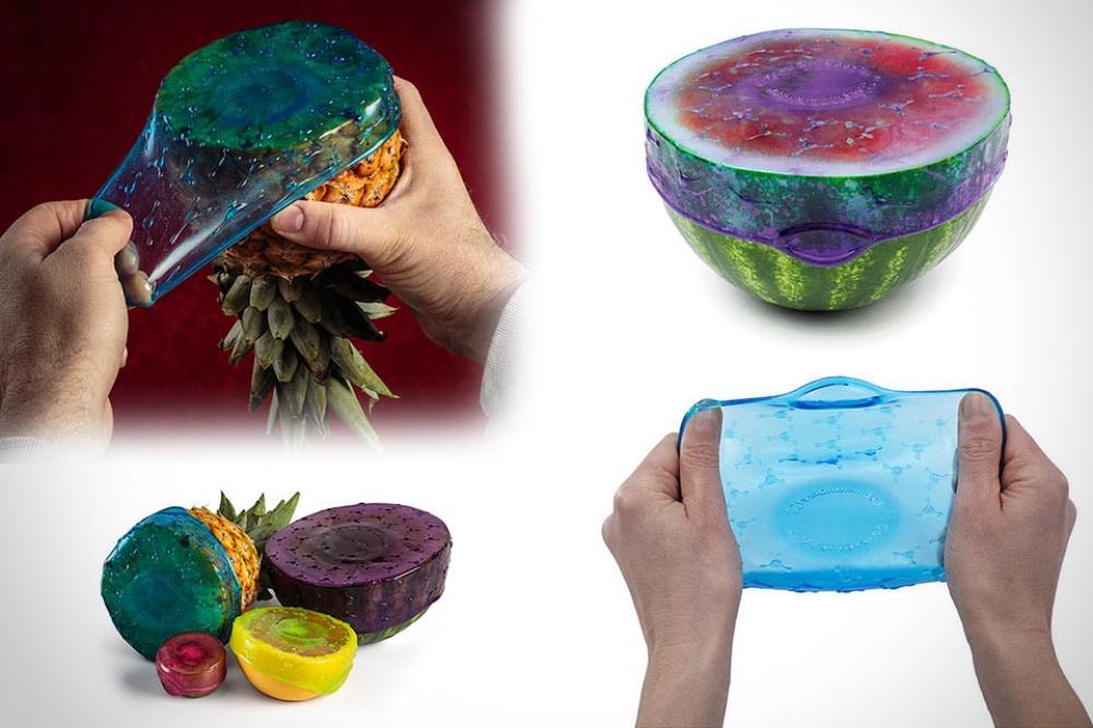 Безопасная иудобная замена пластиковым пакетам иодноразовой упаковочной пленке— тянущаяся пищевая