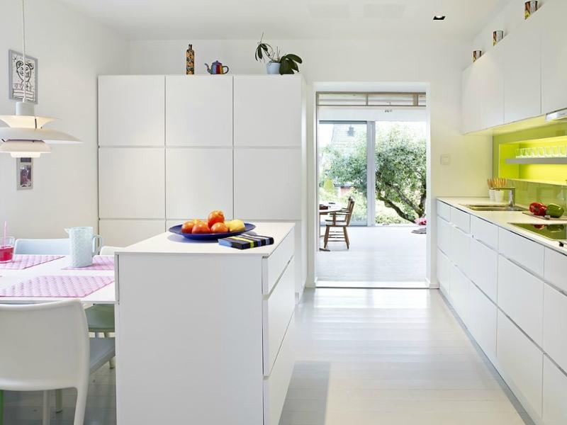 Белый цвет в интерьере кухни, фото 18