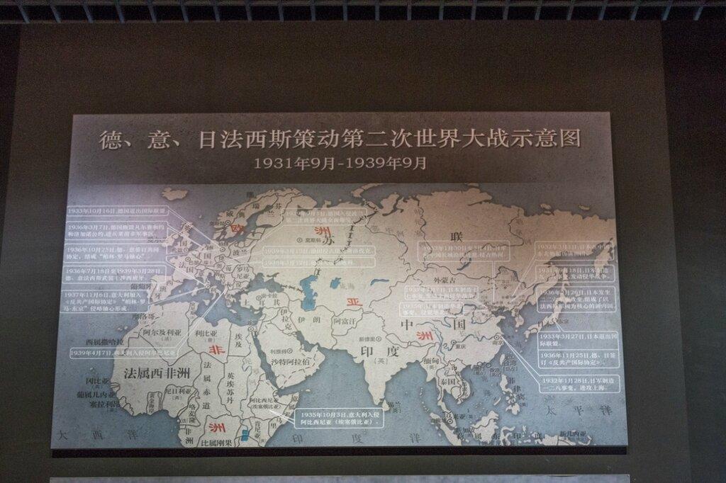 Схема развязывания Второй мировой войны в 1931-1939 году фашистскими странами