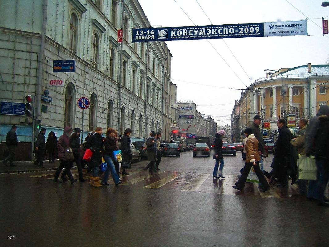 Пешеходный переход на ул. Мясницкая
