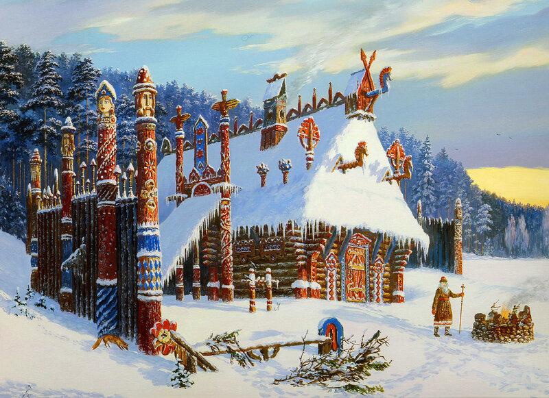 Храм бога Знича. Зима