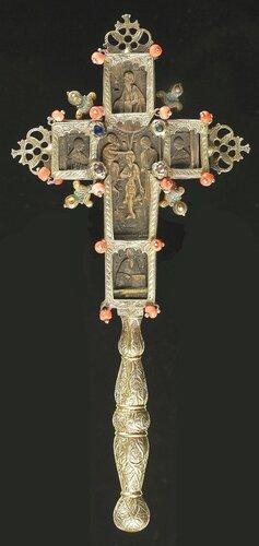 Blessing Cr КРЕСТ HАПРЕСТОЛЬНЫЙ (?) ГРЕЦИЯ XVIII ВЕК AВЕРС. 11 x 9 см.