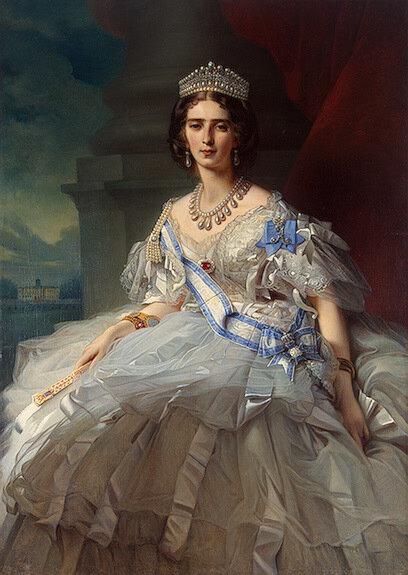 Княгиня Татьяна Александровна Юсупова-Рибопьер. Худ. Ф.К. Винтерхалтер.1858 г.